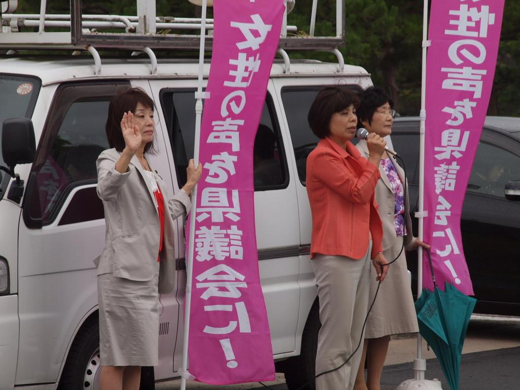 2014.7.4 初めて県議会の女性議員だけで街頭に